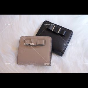 Coach Darcy Bow Small Wallet in Sand & Black (2)